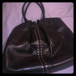 Micheal Kors Black leather bag.
